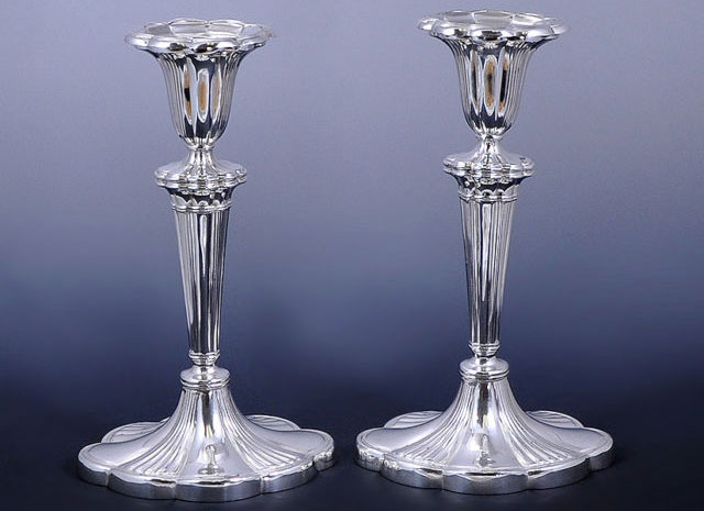 Antique Sterling Silver Gorham Candlesticks