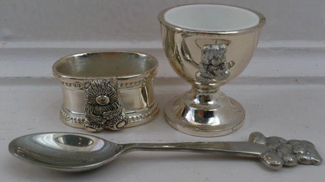 Silver Baby Christening Set