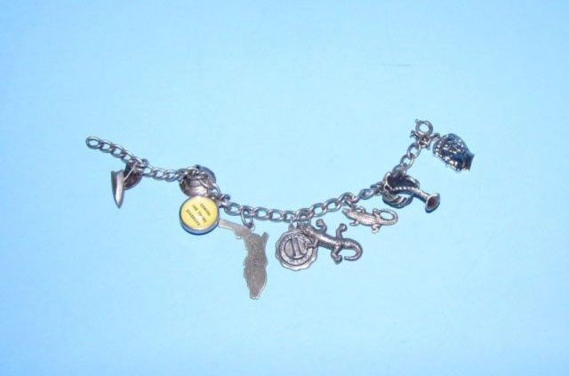 Antique Sterling Silver Charm Bracelets