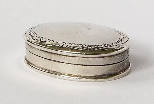 Vintage Silver Pill Box