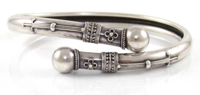 Antique Sterling Silver Bangle Bracelets