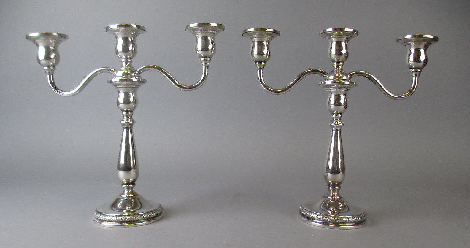 Antique Silver Candelabra