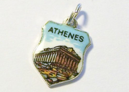Antique Silver Enamel Charms