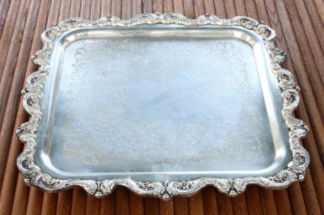 Vintage English Silver Tray