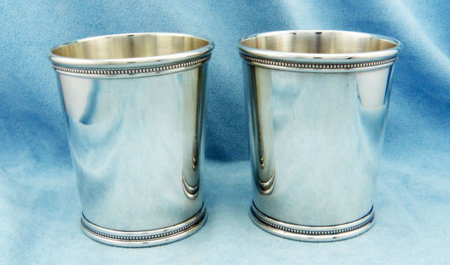 Antique Sterling Silver Mint Julep Cups