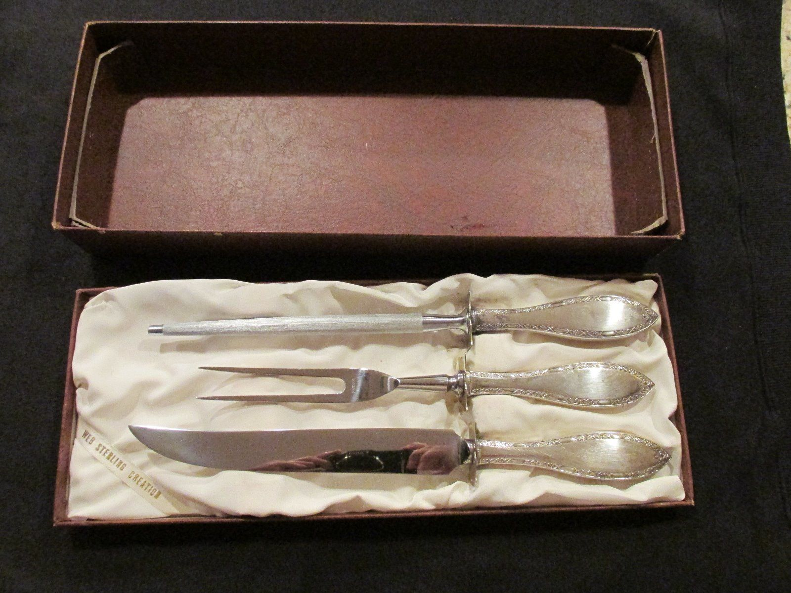 Vintage Sterling Silver Carving Set