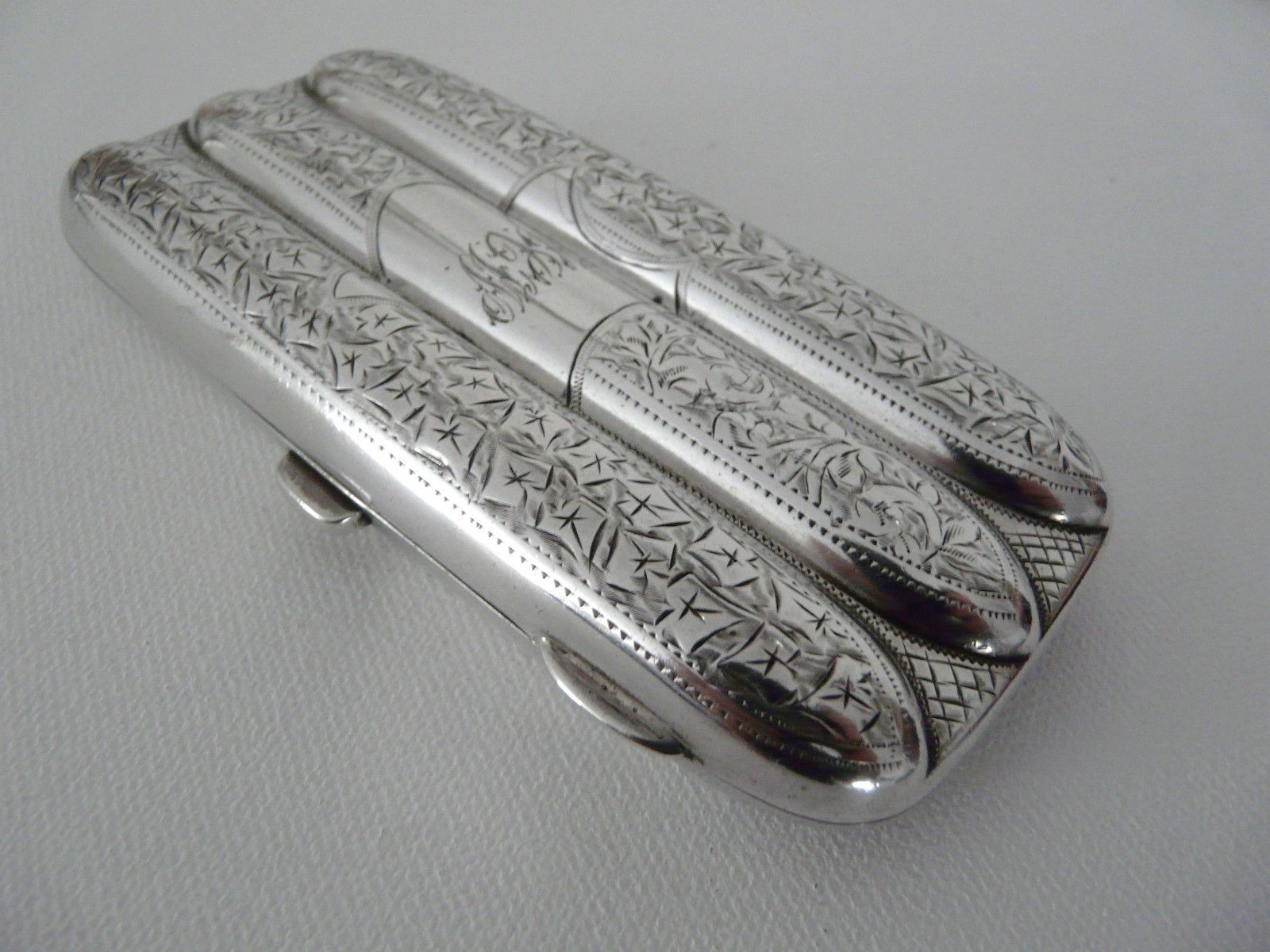 Antique Sterling Silver Cigar Case