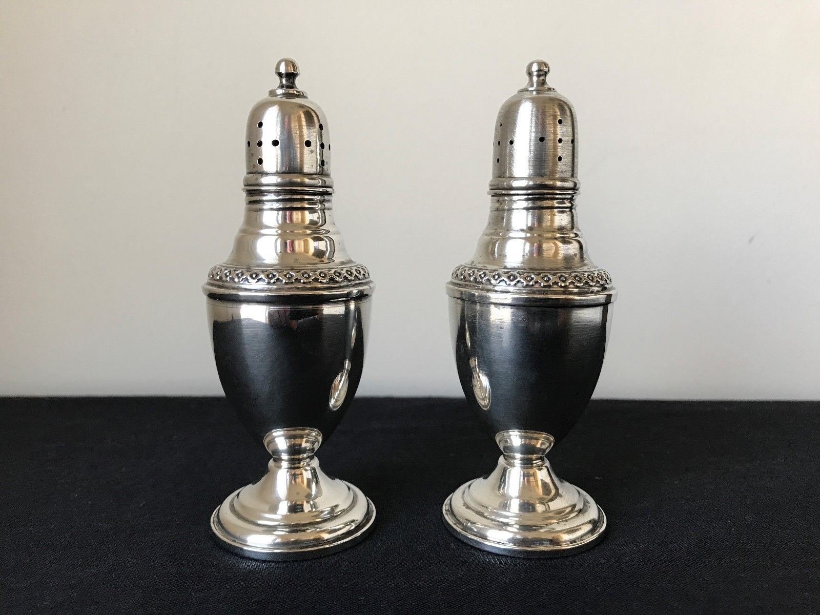 Antique Sterling Silver Salt Pepper Shakers