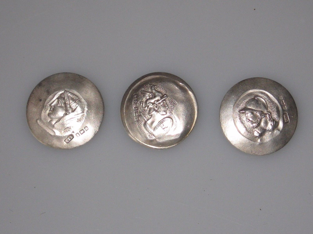 Antique Sterling Silver Buttons