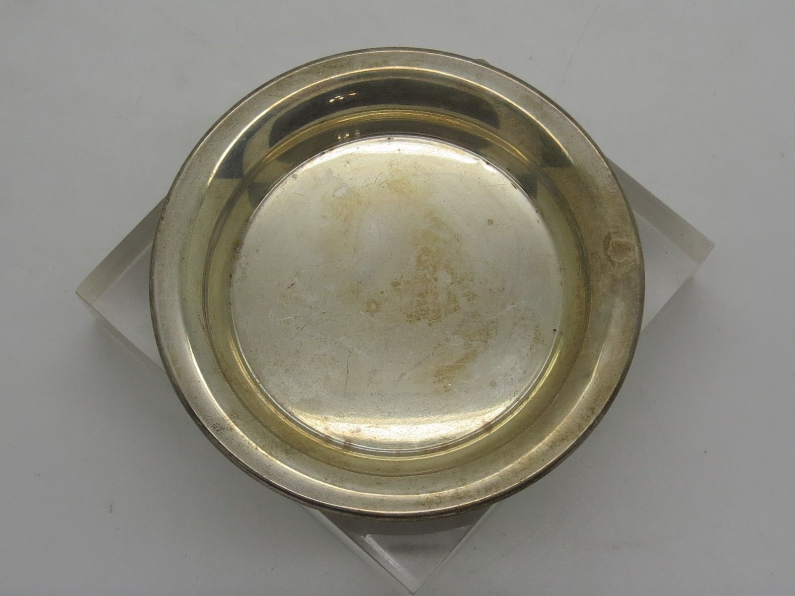 Vintage Silver Butter Tray